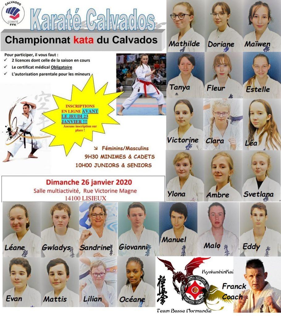 2020.01.26 Championnat du Calvados Kata - Team BNK